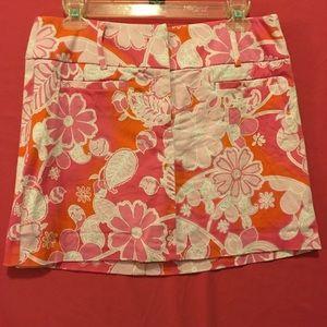 Cute New York & Company pink and orange skirt